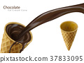 ice cream cone with cocoa 37833095