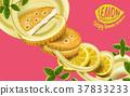 Lemon sandwich cookies elements 37833233