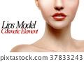 Lips model portrait 37833243