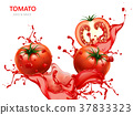 Fresh tomato with juice 37833323