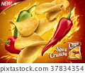 Spicy potato chips ad 37834354