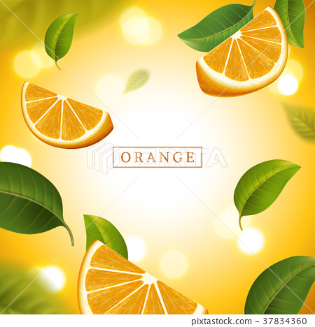 Refreshing orange background 37834360