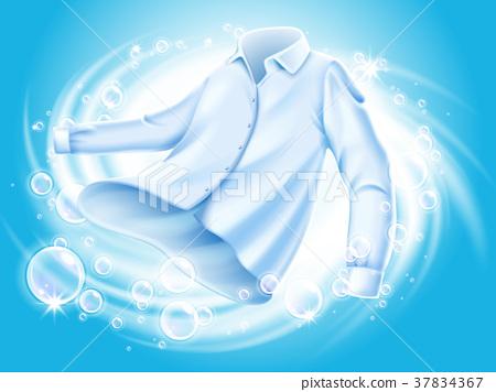 washing clothes illustration 37834367