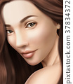 Attractive brunette portrait 37834372