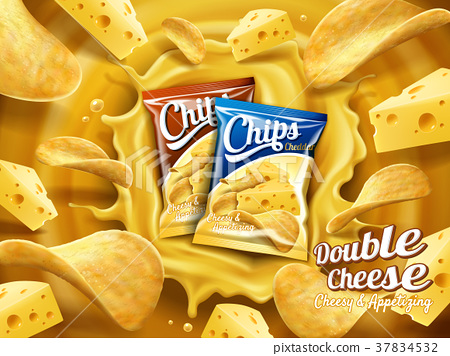 Double cheese potato chips ad 37834532