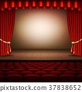 Stage with red curtain. EPS 10 vector 37838652