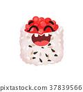 sushi, caviar, vector 37839566