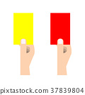 Red card and yellow card 37839804