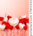 Valentine's day card,love and cute hearts 37841032