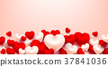 Valentine Hearts Background with Sweet heart. 37841036