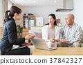 男性夫婦中等財政保險房地產計算機業務女商人 37842327