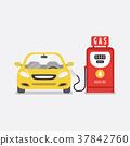 Gas petroleum petrol refill station. 37842760