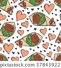 Vector illustration card on valentine day 37843922