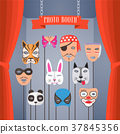 Photo booth props with masks for children vector 37845356