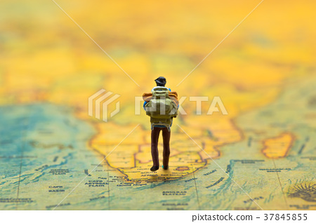 Travel Concept. Men with backpack to travel. 37845855