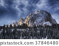 Sassolungo mountains at the sunrise 37846480