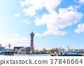 從Hakata福岡市博多區的中心街景Bayside Place Hakata 37846664