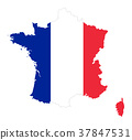 France flag in silhouette of the country 37847531