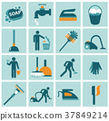 Housekeeping icon set 37849214