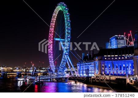 倫敦眼夜視圖英國 37851240