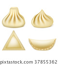 Vector set of realistic 3d dumplings, khinkali 37855362