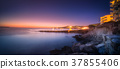 Sunset view of San Antonio beach and Ibiza, Spain 37855406