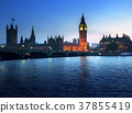 Big Ben and Westminster at sunset, London, UK 37855419