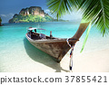 long boat on island in Thailand 37855421