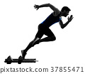 runner sprinter running sprinting athletics man 37855471