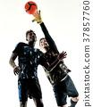 soccer players goalkeeper men isolated silhouette 37857760