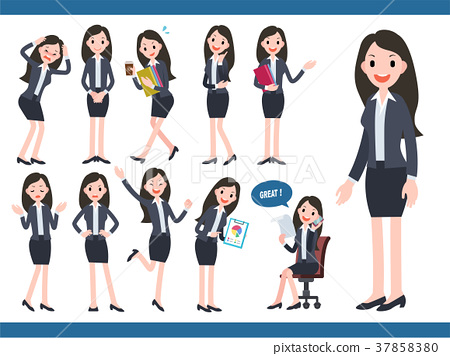 Businesswoman character collection 37858380