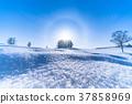 凍結的字段 柔和七之丘 冬天 37858969