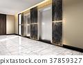 modern steel elevator lift lobby in business hotel 37859327