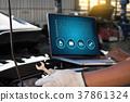 Mechanic repairing Car service concept. repair c 37861324