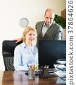 office, working, woman 37864626