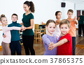 Children dancing pair dance 37865375