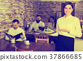 Female, waiter, restaurant 37866685