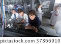 Children playing in bunker questroom 37866910