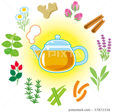Herb tea and herbs 37872336