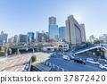 도쿄 이이다 바시 역 동쪽 출구의 풍경 37872420