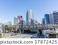 도쿄 이이다 바시 역 동쪽 출구의 풍경 37872425