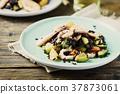 rice, black, shrimp 37873061