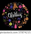 christmas, mittens, snowflake 37874215