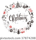 christmas, mittens, snowflake 37874288