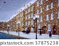 눈 내리는 거리 B 37875238
