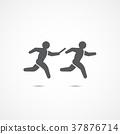 Relay race icon. 37876714