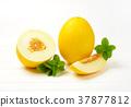 fresh yellow melons 37877812