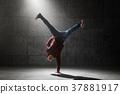Dancer posing in studio 37881917