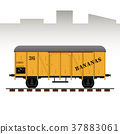 Detailed railway wagon vector illustration 37883061