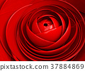 3D image abstract rose.Flower background 37884869